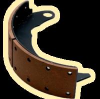 Колодка тормозная с фрикционными накладками задняя