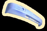 Бампер пластиковый передний (белый)