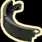 Колодка тормозная с фрикционными накладками и роликом н/о (ТИИР)