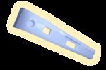 Бампер пластиковый задний (белый)
